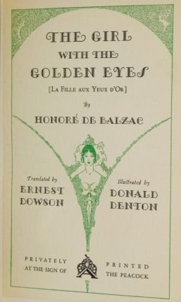The Girl with the Golden Eyes [La Fille Aux Yeux D'Or]
