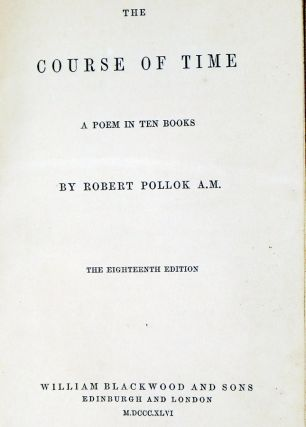 The Course of Time, a Poem in Ten Books