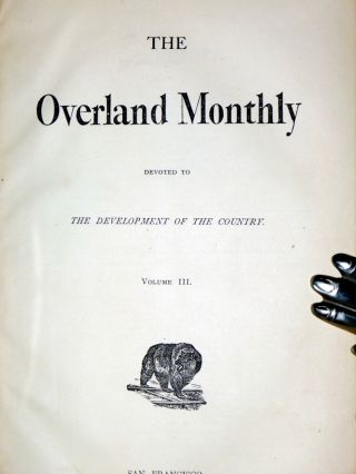The Overland Monthy Devoted to the Development of the Country