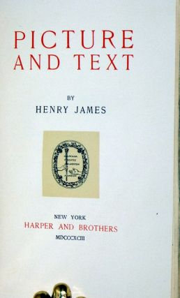 Picture and Text (in the De luxe binding)