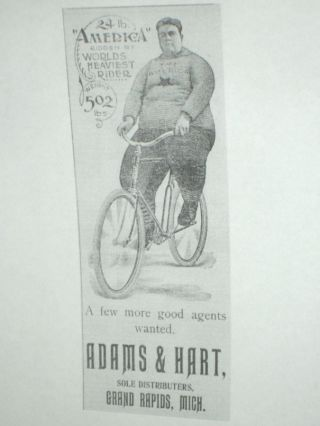 """Bicycle Promotional Card: For the 'America"""" Bicycle"""