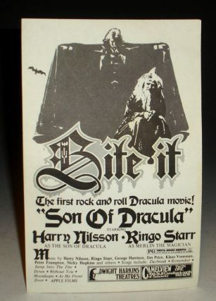 """Son of Dracula"" (starring Harry Nilsson as the Son of Dracula and Ringo Starr as Merlin)"
