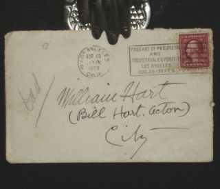 Letter from William S. Hart Estate re: Divorce and Unborn Baby (1922)