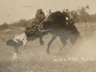 4 real Photograph Postcards of 1914 Miles City Round Up By Marcell