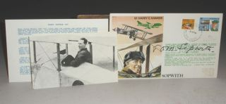 Hawker Commemorative First Day Cover Signed By Sir Thomas Sopwith