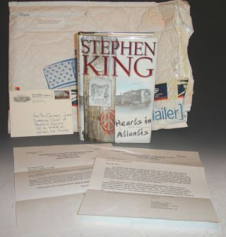 Hearts in Atlantis, Signed By the Author with Original Mailing Envelope, Barry Melton, Etc. Stephen King.