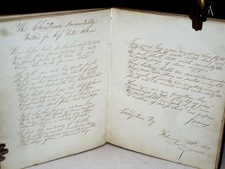 Autograph Album Owned and Circulated By Kate Bowden at Georgetown Female Seminary, Scott County, Kentucky , 1850-51