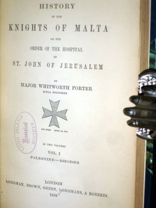 The Knights of Malta or the Order of the Hospital of St. John of Jerusalem (2 Volume set)