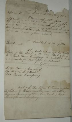 Original Document re: New York and Harlem Rail Road [sic] (Railroad) Signed By Simeon Baldwin.