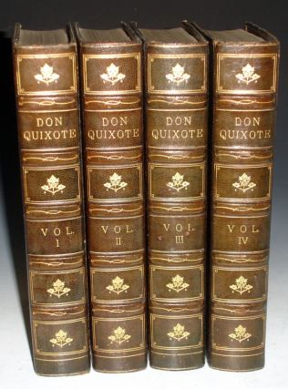 The History of the Ingenious Gentleman of La Mancha, (4 Volumes, Richly Bound By Bayntun)