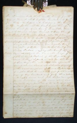 Republic of Texas, 6 Page Legal Document, March 24, 1845, Presided Over By Royall Tyler Wheeler...