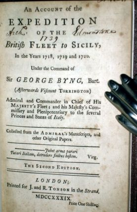 An Account of the Expedition of the British Fleet to Sicily in the Years 1718, 1719, and 1720