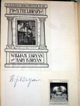 Thomas Alva Edison; Sixty Years of an Inventor's Life (bookplate William Jennings Bryan with signature)