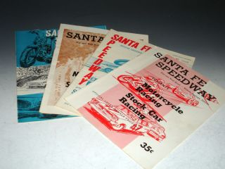 Santa Fe Speedway, Willow Springs, (4 Official Souvenirs, 1960-1975