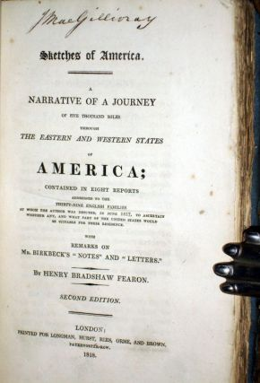 Sketches of America; a Narrative of a Journey of Five thousand Miles Through the Eastern and western States of America: contained in Eight Reports...