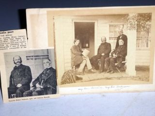 Original Wet-Dry Photograph Taken in 1865 of Major-General Ambrose Burnside and Major-General...