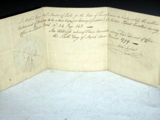 Signed Land Grant By Thomas Mifflin in 1799 on Behalf of George Meade,