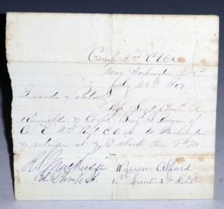 Connecticut. 2nd Regiment. 1864. (Civil War Pass