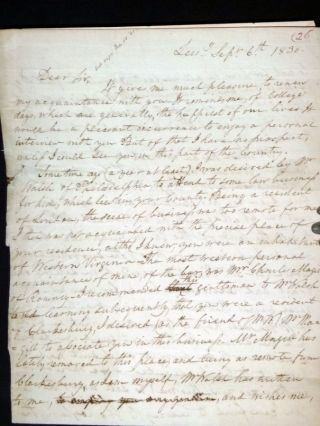 4 Page Autographed Letter, on Legal Matters. Rev. Richard Henry Lee