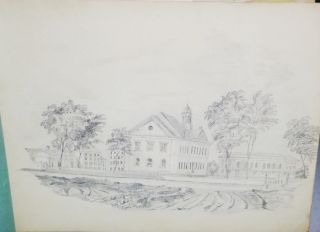 Sketches of landscapes in Pencil, Dated 1845