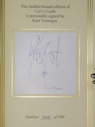 Cat's Cradle, (Signed Limited Edition, No. 500 of 500 copies)