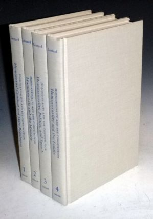 Homosexuality and the Constitution (4 Volume set). Arthur S. Leonard.