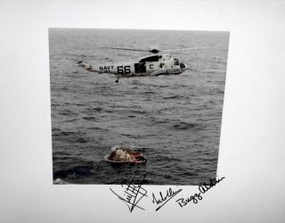 NASA Official 1969 Photograph of the Rescue from the Module of the Astronauts, Signed By the...