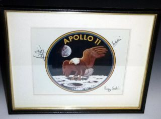 NASA Official 1969 Official Badge By the Entire Crew of Apollo 11 for Gordon Bell, U.S Consul to...