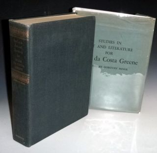 Studies in Art and Literature for Belle Da Costa Greene. Dorothy Miner