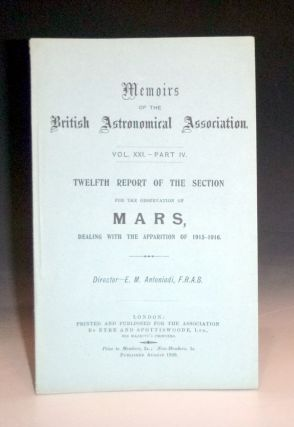 Report of the Section for the Observation of Mars (Memoirs of the British Astronomical...