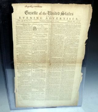 Gazette of the United States, February 7, 1794 (Wall Street, Brokers
