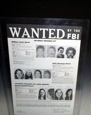 FBI Wanted Poster: Patty Hearst; William Harris; Emily Harris