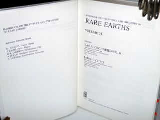 Handbook on the Physics and Chemistry of Rare Earths (Volume 24)