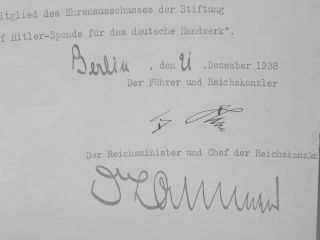 Document Signed, December, 1938