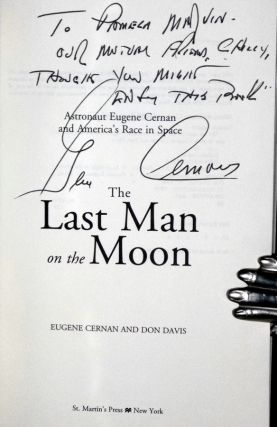 The Last Man on the Moon (Inscribed By the Author to Pamela Marvin (Lee Marvin's wife)