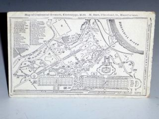 Map of Centennial Grounds/Map of City (Philadelphia). M. R. Longacre