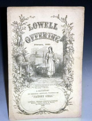 "Lowell Offering; A Repository of Original Articles Written By ""Factory Girls"", February 1945"