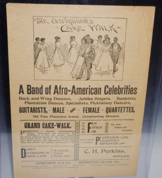 The Alabama Troubadours and C.H. Perkins/A Band of Afro-American Celebrities (broadsheet