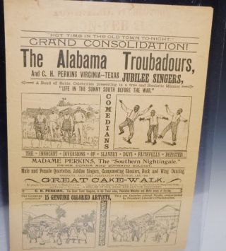 The Alabama Troubadours and C.H. Perkins/A Band of Afro-American Celebrities (broadsheet)