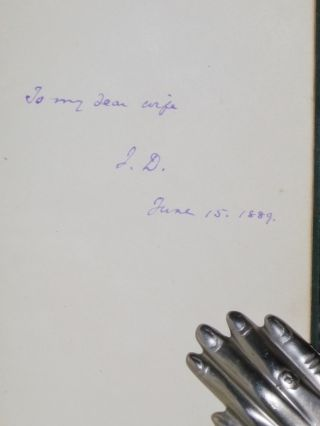 """Mr. Donnelly's Reviewers (Inscribed : """"To My Dear Wife, I.D., June 15, 1889"""