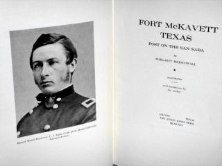 Fort McKavett, Texas (signed By the author)
