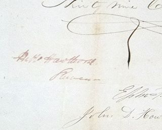 Document Signed, 1 September 1847. Customs Declaration for Ship Arriving from Annapolis