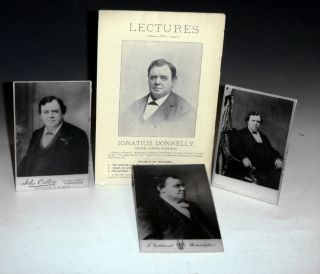 Lectures Accompanied By three Photographs of Donnelly. Ignatius Donnelly