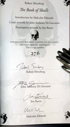 The Book of Skulls (Limited to 300 Copies, Signed By the Author, John Anthony Di Giovanni (the artist) and Jim Burns and Malcolm Edward)