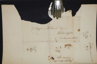 2 Page Bifolium Handwritten Letter from John Howell to Elezer McComb, July 28, 1792