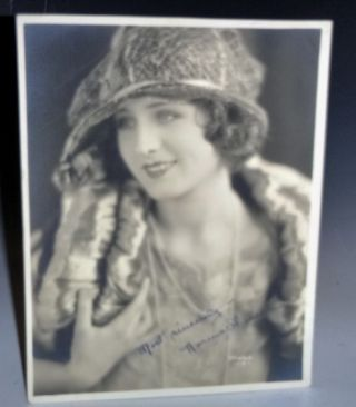 Signed early Photograph of Norma Shearer, Circa 1929. Norma Shearer