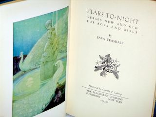 Stars To-Night; Verses New and Old for Boys and Girls (signed By Dorothy Lathrop)