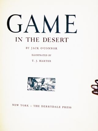 Game in the Desert, (Limited and signed)