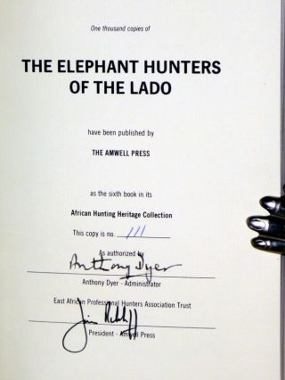 The Elephant Hunters of Lado, Foreword By Anthony Dyer, Signed By A. Dyer (with Original Preface By C.R.S. Pitman