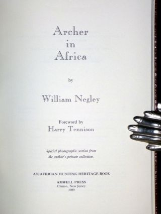 Archer in Africa (limited and signed)